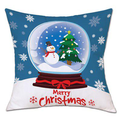 Christmas Crystal Ball Print Linen Pillowcase