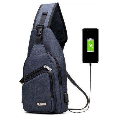 Buy Buckle Strap USB Charging Port Chest Bag, BLUE, Bags & Shoes, Men's Bags, Crossbody Bags for $26.30 in GearBest store