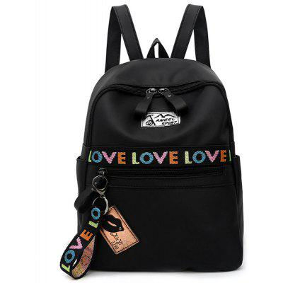 Badge Letter Embroidery Backpack
