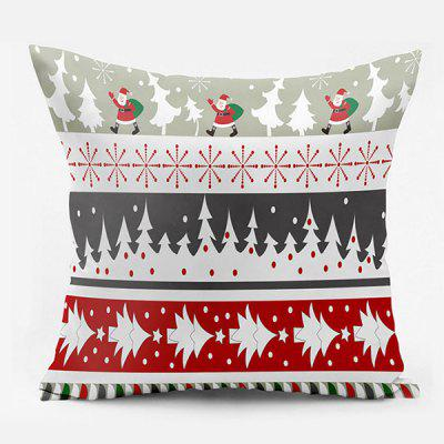 Christmas Tree Santa Claus Double Side Printed Pillowcase