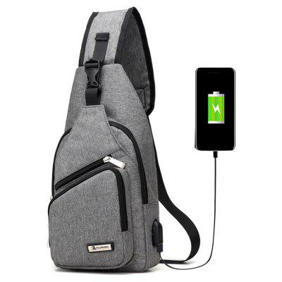 Buy Buckle Strap USB Charging Port Chest Bag, GRAY, Bags & Shoes, Men's Bags, Crossbody Bags for $26.30 in GearBest store