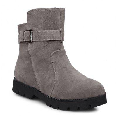 Buckle Strap Short Boots