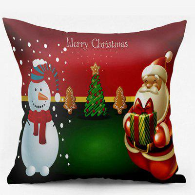 Christmas Snowman Santa Claus Double Side Printed Pillowcase