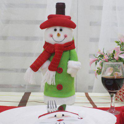 Table Decor Christmas Snowman Shape Winebottle Cover