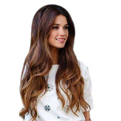 Long Colormix Center Parting Wavy Synthetic Wig