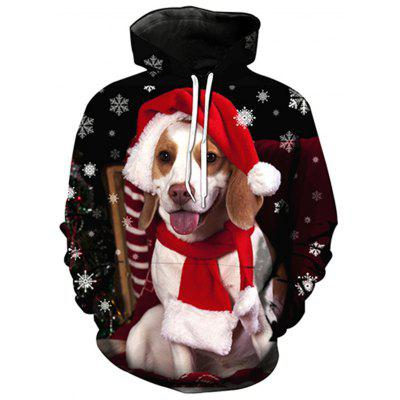 Buy Hooded Christmas Dog 3D Print Pullover Hoodie, COLORMIX, L, Apparel, Men's Clothing, Men's Hoodies & Sweatshirts for $34.07 in GearBest store