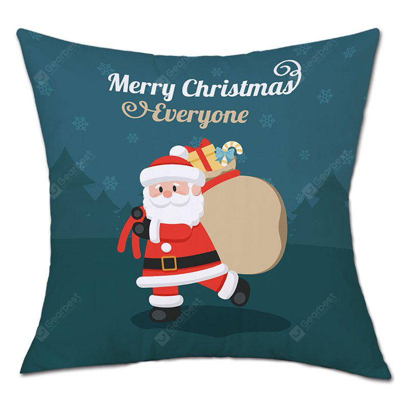 Christmas Santa Gift Bag Print Linen Pillowcase | Gearbest
