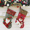 2Pcs Christmas Decorations Hanging Candy Socks - COLORMIX