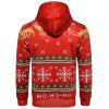 Hooded Christmas Ugly Snowflake Graphic Print Hoodie - COLORMIX