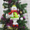 Snowman Shape Doll Christmas Tree Hang Decoration - GREEN