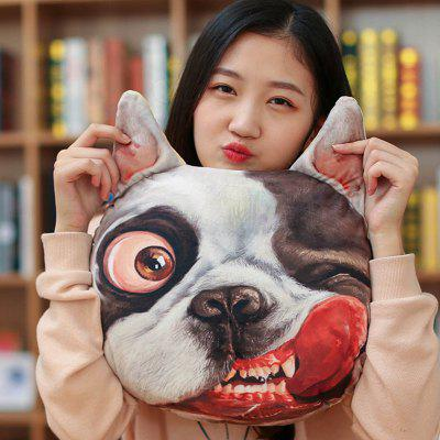 3D Dog Head Decorative Cushion Throw Pillow