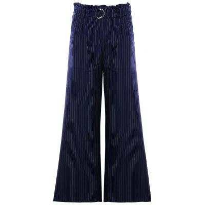 Buy BLUE M Formal High Waist Striped Wide Leg Pants for $28.52 in GearBest store