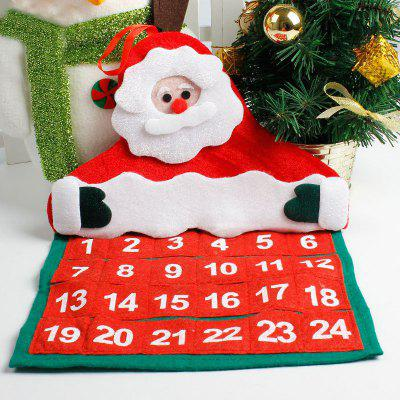 Buy Christmas Santa Claus Hanging Advent Calendar, RED, Home & Garden, Party Supplies, Christmas Supplies for $4.56 in GearBest store