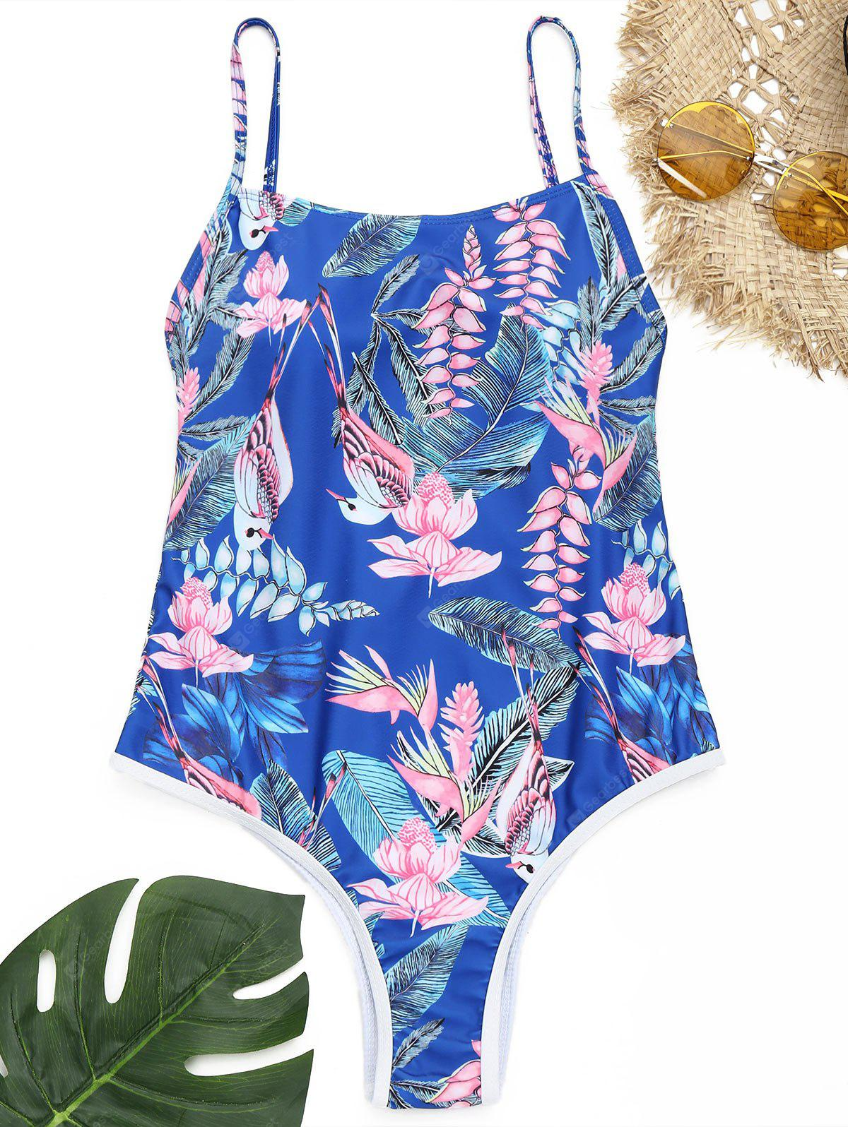 One Piece Flower Print Swimsuit