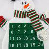 Christmas Santa Snowman Hanging Decoration Advent Calendar - GREEN