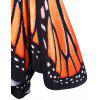 Plus Size Butterfly Print Swing Dress - ORANGE
