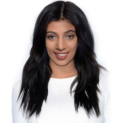 Middle Part Long Natural Wavy Synthetic Wig