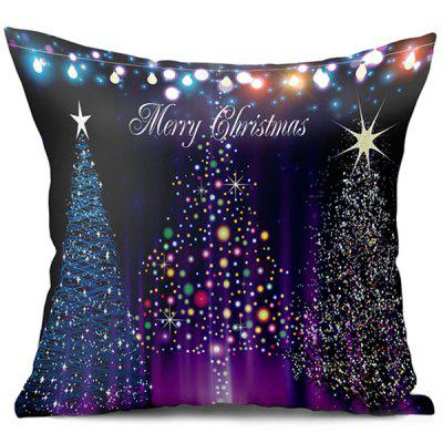 Neon Christmas Tree Double Side Printed Decorative Pillowcase
