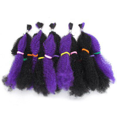 Buy PURPLE 5Pcs Long Shaggy Afro Curly Synthetic Hair Weaves for $13.52 in GearBest store