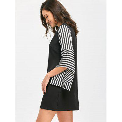 Round Collar Striped Mini Shift DressMini Dresses<br>Round Collar Striped Mini Shift Dress<br><br>Dresses Length: Mini<br>Material: Polyester<br>Neckline: Round Collar<br>Package Contents: 1 x Dress<br>Pattern Type: Striped<br>Season: Fall<br>Sleeve Length: 3/4 Length Sleeves<br>Weight: 0.3150kg<br>With Belt: No