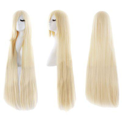 Ultra Long Side Bang Straight Synthetic Party Wig