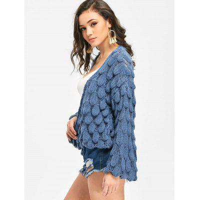 Open Front Loose Knit CardiganSweaters &amp; Cardigans<br>Open Front Loose Knit Cardigan<br><br>Collar: Collarless<br>Material: Acrylic, Polyester<br>Package Contents: 1 x Cardigan<br>Sleeve Length: Full<br>Style: Casual<br>Type: Cardigans<br>Weight: 0.7600kg