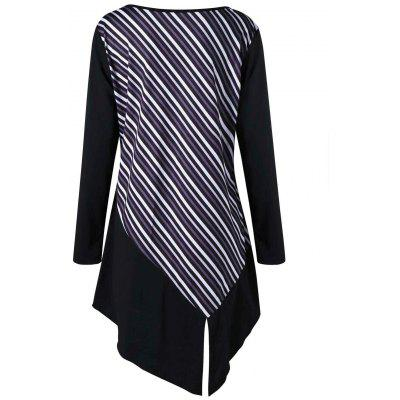 Plus Size Long Sleeve Striped Tee DressPlus Size Dresses<br>Plus Size Long Sleeve Striped Tee Dress<br><br>Dresses Length: Mini<br>Material: Polyester, Spandex<br>Neckline: Scoop Neck<br>Package Contents: 1 x Dress<br>Pattern Type: Striped<br>Season: Spring, Fall<br>Silhouette: Asymmetrical<br>Sleeve Length: Long Sleeves<br>Style: Casual<br>Weight: 0.3100kg<br>With Belt: No
