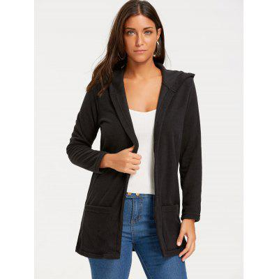 Casual Open Front Longline Hooded CoatJackets &amp; Coats<br>Casual Open Front Longline Hooded Coat<br><br>Clothes Type: Others<br>Collar: Hooded<br>Material: Polyester, Cotton<br>Package Contents: 1 x Coat<br>Pattern Type: Solid<br>Season: Fall, Winter<br>Shirt Length: Long<br>Sleeve Length: Full<br>Style: Casual<br>Type: Slim<br>Weight: 0.3700kg