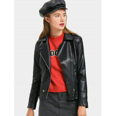 Lace Up Faux Leather Biker JacketJackets &amp; Coats<br>Lace Up Faux Leather Biker Jacket<br><br>Clothes Type: Jackets<br>Collar: Turn-down Collar<br>Material: Faux Leather<br>Package Contents: 1 x Jacket<br>Pattern Type: Solid<br>Shirt Length: Regular<br>Sleeve Length: Full<br>Style: Fashion<br>Type: Slim<br>Weight: 0.7700kg