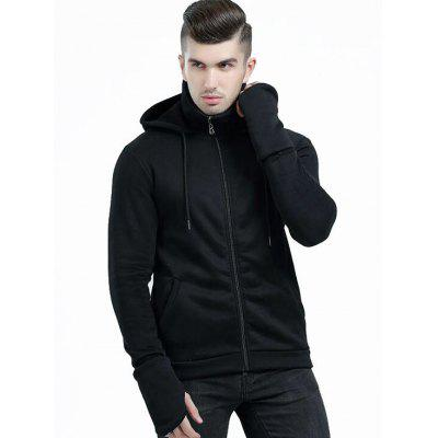 Thumbhole Hoodie with Pockets
