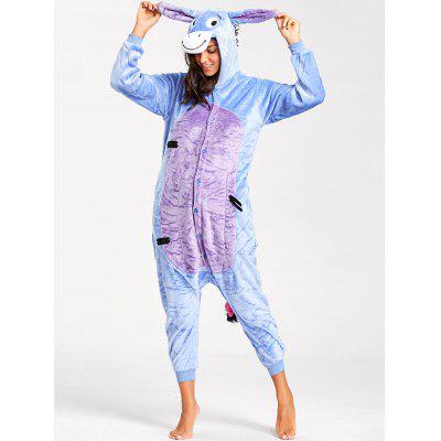 Funny Donkey Animal Onesie PajamasPajamas<br>Funny Donkey Animal Onesie Pajamas<br><br>Fabric Type: Fleece<br>Material: Polyester<br>Package Contents: 1 x Pajamas<br>Pattern Type: Animal<br>Weight: 0.5100kg