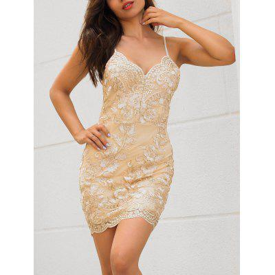 Embroidered Scalloped Slip Mini DressBodycon Dresses<br>Embroidered Scalloped Slip Mini Dress<br><br>Dresses Length: Mini<br>Embellishment: Embroidery<br>Material: Polyester<br>Neckline: Spaghetti Strap<br>Package Contents: 1 x Dress<br>Pattern Type: Others<br>Season: Fall, Spring, Summer<br>Silhouette: Sheath<br>Sleeve Length: Sleeveless<br>Style: Brief<br>Weight: 0.3000kg<br>With Belt: No