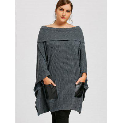 Plus Size PU Leather Pockets Off The Shoulder TopPlus Size<br>Plus Size PU Leather Pockets Off The Shoulder Top<br><br>Collar: Off The Shoulder<br>Material: Polyester<br>Package Contents: 1 x Top<br>Pattern Type: Solid<br>Season: Spring, Fall<br>Sleeve Length: Full<br>Style: Casual<br>Type: Pullovers<br>Weight: 0.6100kg