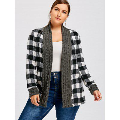 Plus Size Shawl Collar Plaid Long Sleeve CardiganPlus Size<br>Plus Size Shawl Collar Plaid Long Sleeve Cardigan<br><br>Collar: Shawl Collar<br>Material: Cotton, Polyester<br>Package Contents: 1 x Cardigan<br>Pattern Type: Plaid<br>Season: Winter, Spring, Fall<br>Sleeve Length: Full<br>Style: Casual<br>Type: Cardigans<br>Weight: 0.5500kg