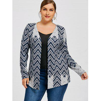 Plus Size Zigzag CardiganPlus Size<br>Plus Size Zigzag Cardigan<br><br>Collar: Collarless<br>Material: Polyester<br>Package Contents: 1 x Cardigan<br>Pattern Type: Chevron/Zig Zag<br>Season: Spring, Fall<br>Sleeve Length: Full<br>Style: Casual<br>Type: Pullovers<br>Weight: 0.3100kg