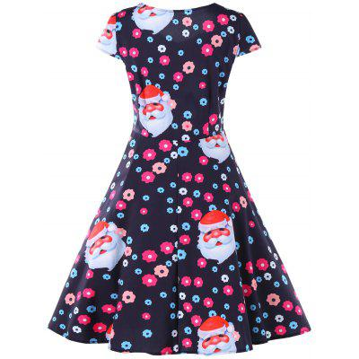 Christmas Santa and Flower Print Flare DressWomens Dresses<br>Christmas Santa and Flower Print Flare Dress<br><br>Dresses Length: Mid-Calf<br>Material: Polyester<br>Neckline: Sweetheart Neck<br>Package Contents: 1 x Dress<br>Pattern Type: Floral, Character<br>Season: Fall, Spring, Summer<br>Silhouette: A-Line<br>Sleeve Length: Short Sleeves<br>Sleeve Type: Cap Sleeve<br>Style: Vintage<br>Weight: 0.2470kg<br>With Belt: No