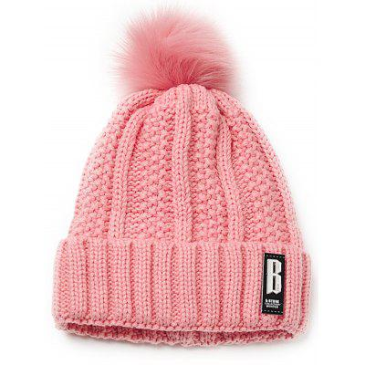 Outdoor Letter B Embellished Crochet Knitted Beanie Scarf Set