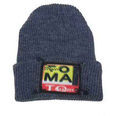 Outdoor Paper Clip Embellished Flanging Beanie Hat