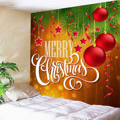 Merry Christmas Balls Print Wall Art Tapestry