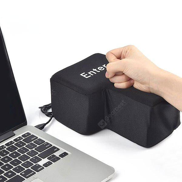 Nap Pillow USB Big Enter Key Stress Relief Toy, BLACK, Home & Garden, Home Textile, Bedding, Pillow