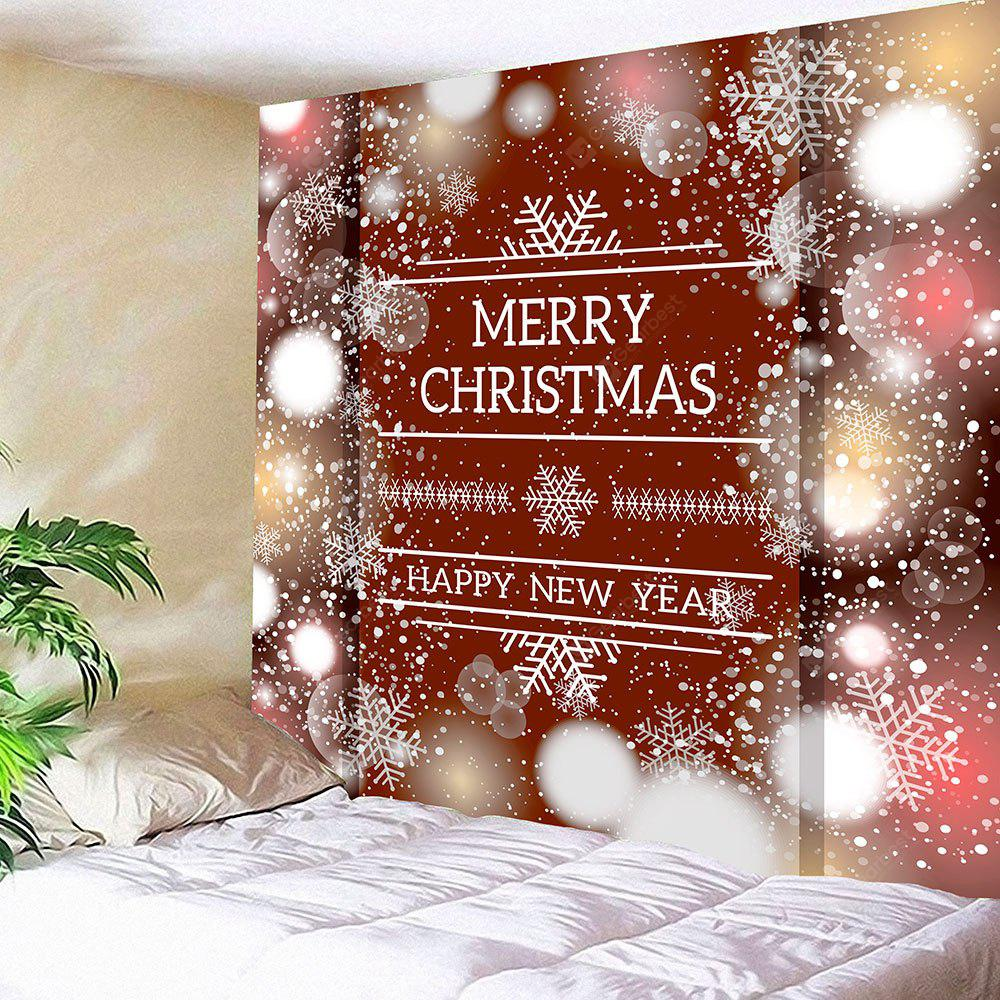 Christmas Snowflake Letter Print Wall Hanging Tapestry