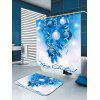 Christmas Tree Decorative Balls Pattern Shower Curtain - BLUE