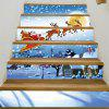 Christmas Snowy Night Santa Pattern Decorative Stair Decals - COLORMIX