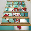 Christmas Snowman Baubles Pattern Decorative Stair Decals - COLORMIX