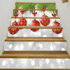 Christmas Baubles Pattern Decorative Stair Decals - COLORMIX