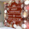 Christmas Snowflake Letter Print Wall Hanging Tapestry - CLARET
