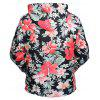 Kangaroo Pocket Tropical Floral Hoodie - COLORMIX
