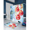 Christmas Snowflakes Balls Pattern Shower Curtain - BLUE AND RED