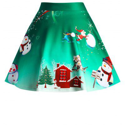 Christmas Snowman Tree Wintersweet Print Ombre SkirtPlus Size<br>Christmas Snowman Tree Wintersweet Print Ombre Skirt<br><br>Length: Mini<br>Material: Polyester, Spandex<br>Package Contents: 1 x Skirt<br>Pattern Type: Print<br>Season: Winter<br>Silhouette: A-Line<br>Weight: 0.3300kg<br>With Belt: No