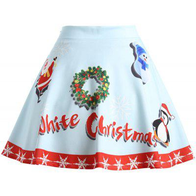 Christmas Snowman Santa Claus Garland SkirtPlus Size<br>Christmas Snowman Santa Claus Garland Skirt<br><br>Length: Mini<br>Material: Polyester, Spandex<br>Package Contents: 1 x Skirt<br>Pattern Type: Animal<br>Season: Winter<br>Silhouette: A-Line<br>Weight: 0.3300kg<br>With Belt: No